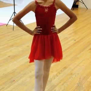 Revolution Costume Dance Kid Child MC Red